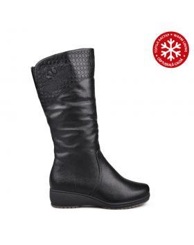 Черни дамски ежедневни ботуши с топъл хастар 0132082 в online магазин Fashionzona