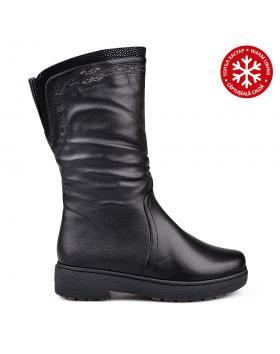 Черни дамски ежедневни ботуши с топъл хастар 0132088 в online магазин Fashionzona