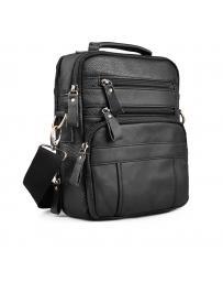 Черна мъжка ежедневна чанта Sebastiano в online магазин Fashionzona