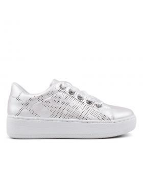 Бели дамски кецове 0132879 в online магазин Fashionzona