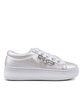 Бели дамски кецове 0132884 в online магазин Fashionzona
