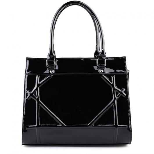 Черна дамска ежедневна чанта Charlisa