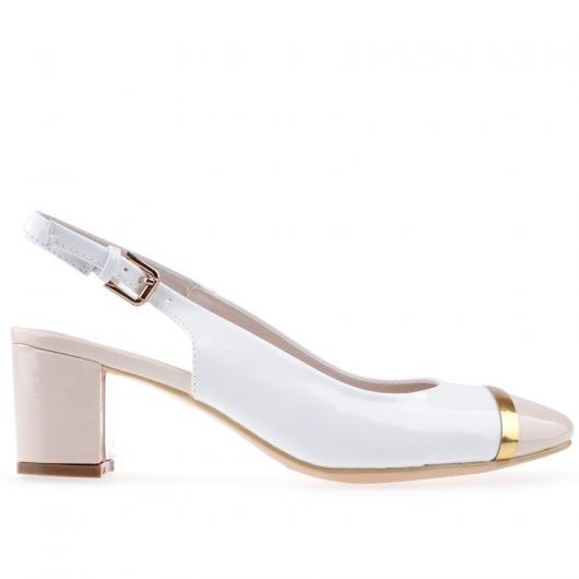 Бели дамски ежедневни обувки Katelin