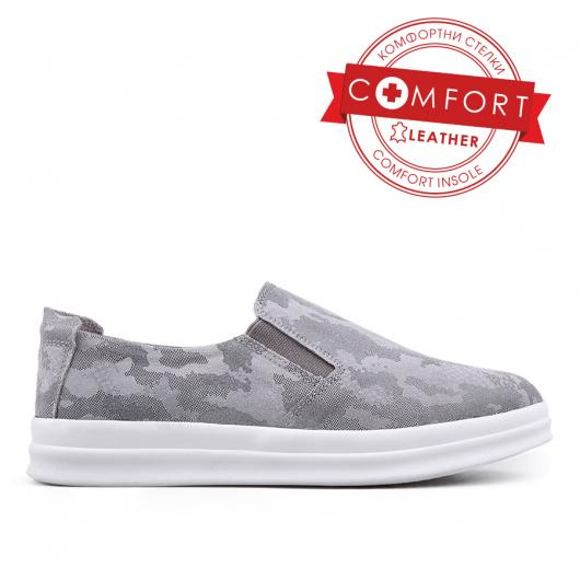 Сиви дамски ежедневни обувки 0133429