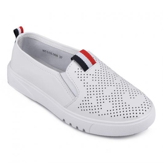Бели дамски ежедневни обувки Yesemia