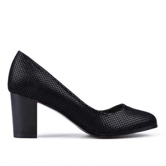 Черни дамски елегантни обувки Teonna