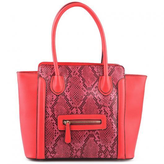 Червена дамска ежедневна чанта Nyasia