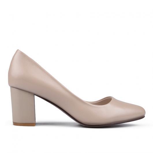 Бежови дамски елегантни обувки Ciana