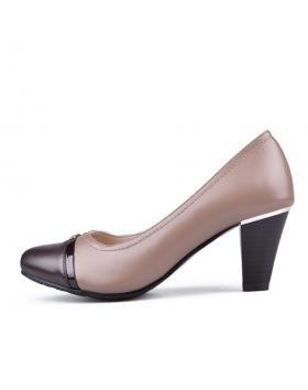 Бежови дамски елегантни обувки Vafara в online магазин Fashionzona