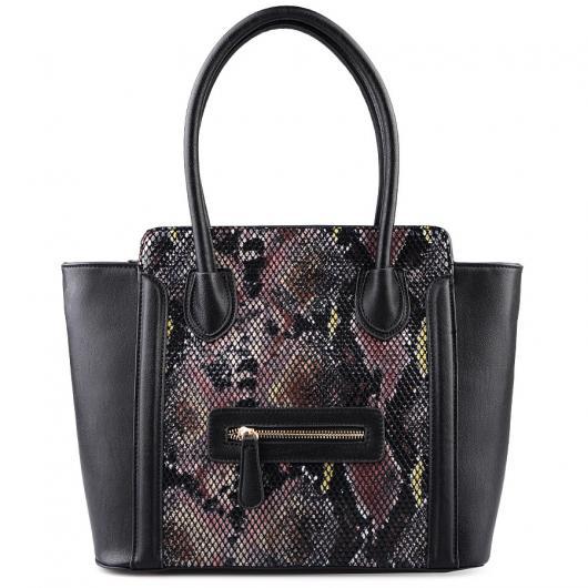 Черна дамска ежедневна чанта Ilene