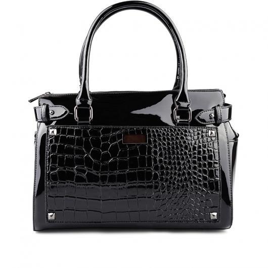 Черна дамска ежедневна чанта Adya