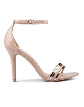 Дамски елегантни сандали бежови 0133840 в online магазин Fashionzona