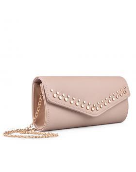 Розова дамска елегантна чанта 0134374 в online магазин Fashionzona