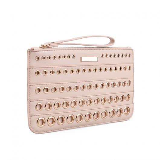 Розова дамска елегантна чанта Leah