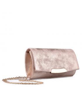 Дамска елегантна чанта розова 0134383 в online магазин Fashionzona