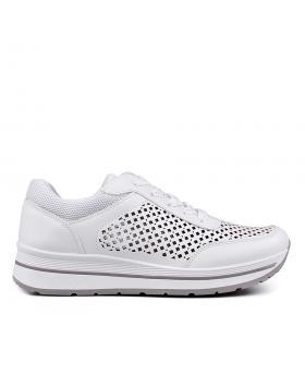 Бели дамски кецове 0132882 в online магазин Fashionzona