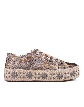 Дамски ежедневни обувки златисто кафяви 0133796 в online магазин Fashionzona