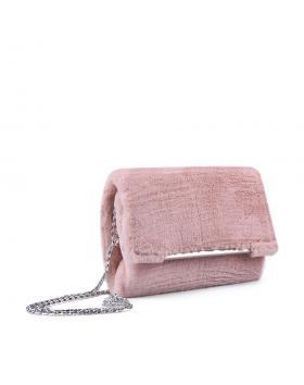 Розова дамска елегантна чанта 0134401 в online магазин Fashionzona