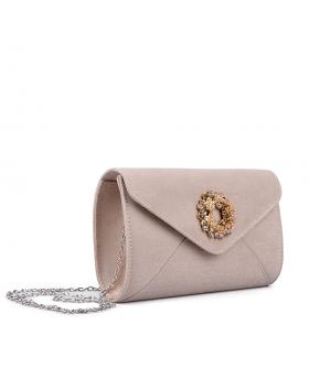 Дамска елегантна чанта бежова 0134366 в online магазин Fashionzona