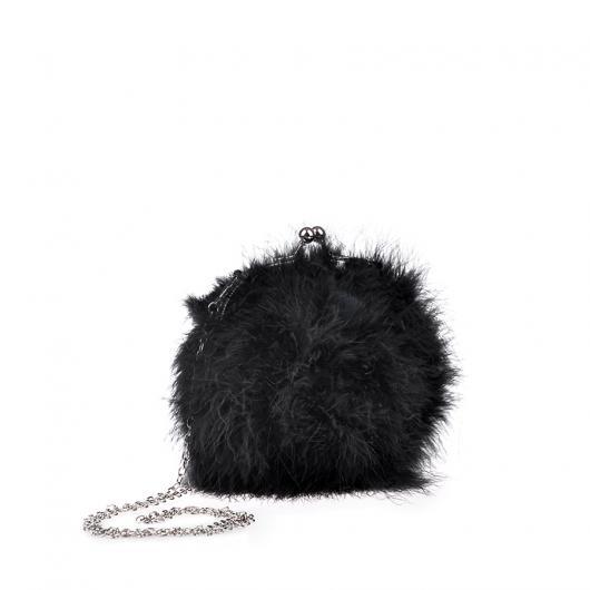 Черна дамска елегантна чанта Nedda