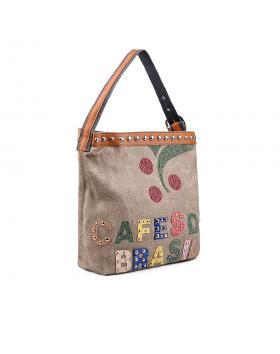 Дамска ежедневна чанта бежова 0133206 в online магазин Fashionzona