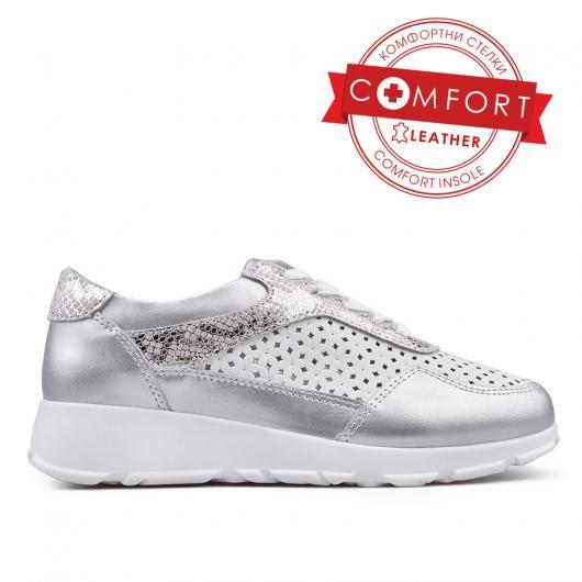 Сребристи дамски ежедневни обувки 0133391