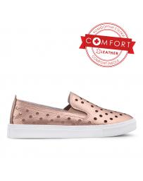 Златисти дамски ежедневни обувки Faqueza в online магазин Fashionzona