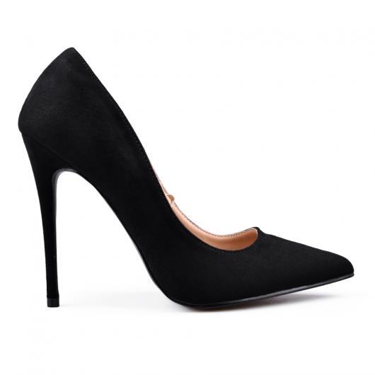 Черни дамски елегантни обувки Rose-lynn