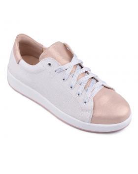 Бели дамски кецове 0134724 в online магазин Fashionzona