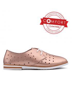 Златисти дамски ежедневни обувки Kadyn в online магазин Fashionzona