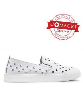 Бели дамски ежедневни обувки 0133473 в online магазин Fashionzona