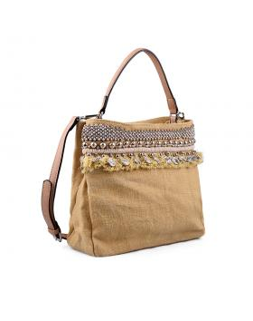 Бежова дамска ежедневна чанта 0133203 в online магазин Fashionzona