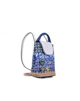 Синя дамска раница 0133193 в online магазин Fashionzona