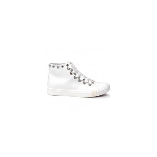 b8c181c6b26 Бели дамски кецове Nellie ⋙ на цена 20,93 лв — Fashionzona