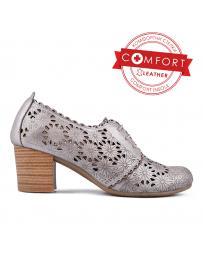 Сребристи ежедневни дамски обувки Nilda