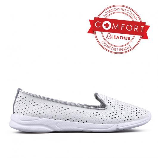 Бели дамски ежедневни обувки Dani