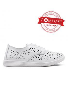 Бели дамски ежедневни обувки 0133410 в online магазин Fashionzona