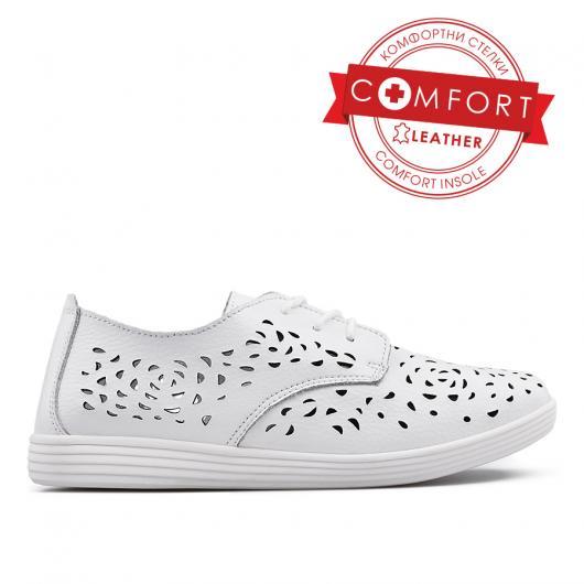 Бели дамски ежедневни обувки La Reina