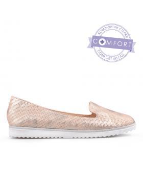 Златисти дамски ежедневни обувки Manny в online магазин Fashionzona