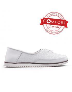 Бели дамски ежедневни обувки 0133437 в online магазин Fashionzona