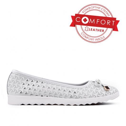 Бели дамски ежедневни обувки Jacquelean