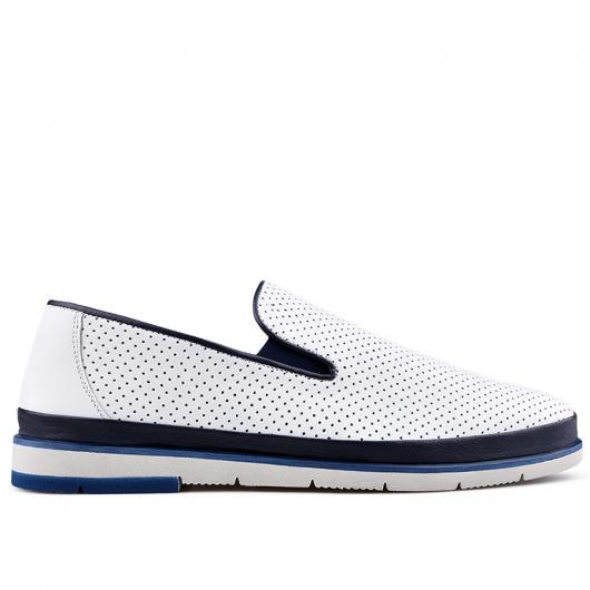 Бели мъжки ежедневни обувки Amelio