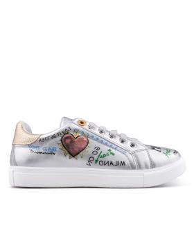Сребристи дамски кецове 0134921 в online магазин Fashionzona