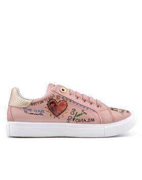 Розови дамски кецове 0134920 в online магазин Fashionzona