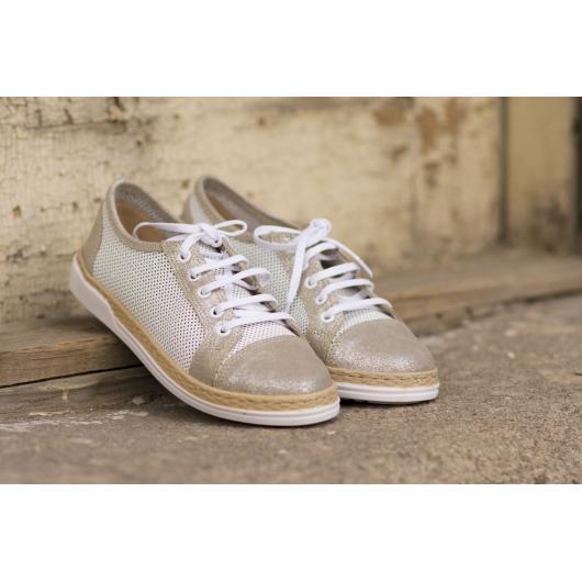 Бели дамски ежедневни обувки 1802