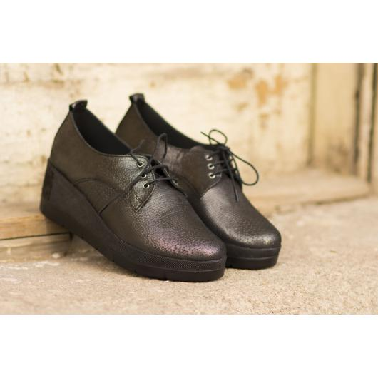 Черни дамски ежедневни обувки 1805