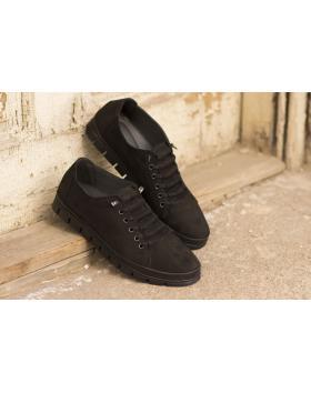 Черни мъжки ежедневни обувки Apollonios в online магазин Fashionzona