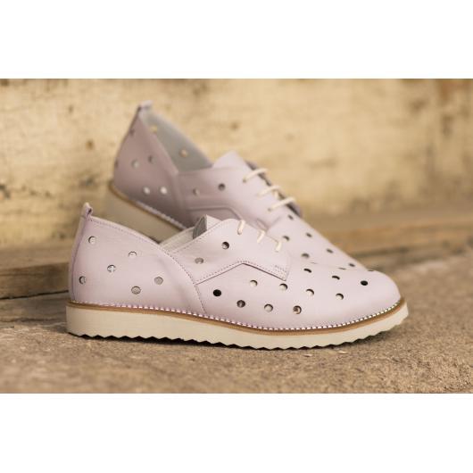 Лилави дамски ежедневни обувки 3035