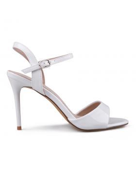 Бели дамски елегантни сандали 0133645 в online магазин Fashionzona