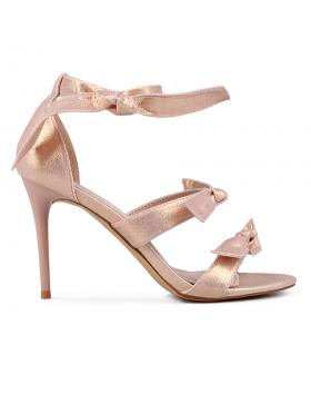 Златисти дамски елегантни сандали Verdell в online магазин Fashionzona